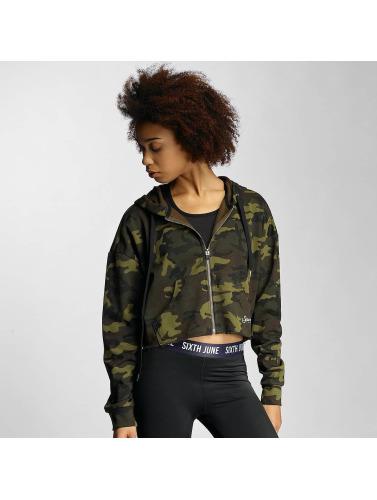 Sixth June Damen Zip Hoodie Oversized in camouflage