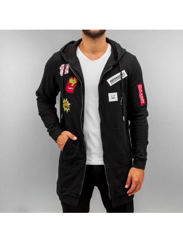 Sixth June Herren Zip Hoodie Patches in schwarz