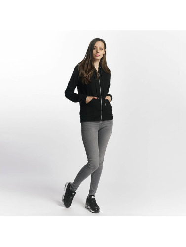 Sixth June Damen Zip Hoodie Classic in schwarz