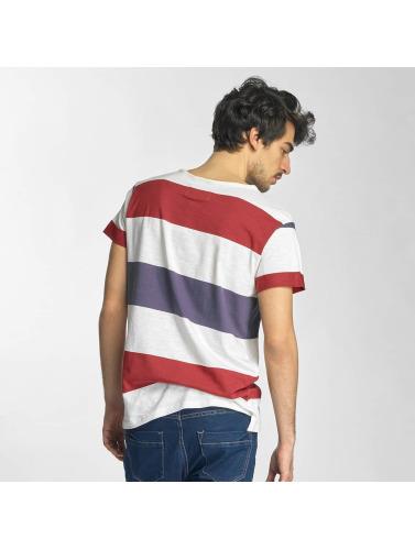 Sky Rebel Hombres Camiseta Stripes in blanco