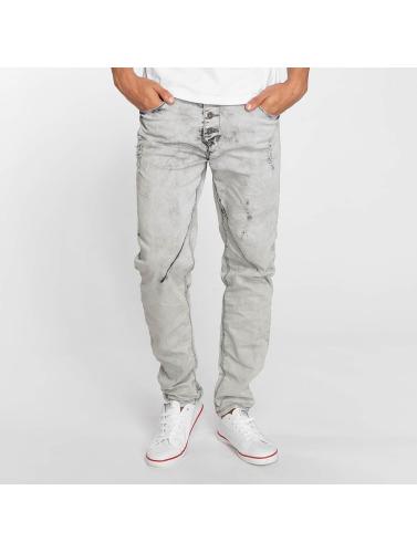 Sky Rebel Herren Straight Fit Jeans Elay in grau