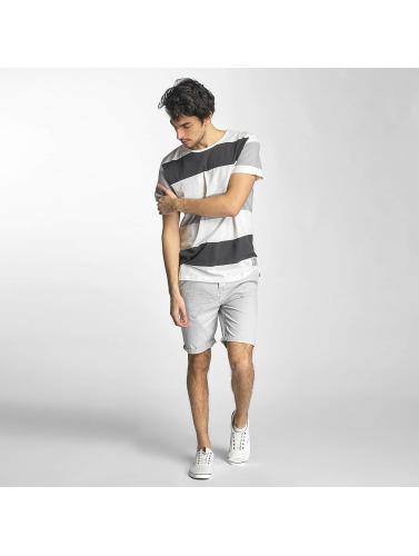 Sky Rebel Herren T-Shirt Stripes in weiß