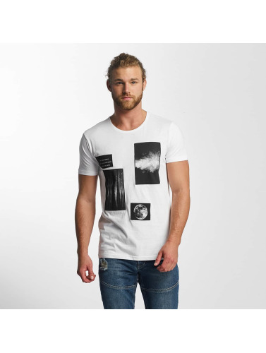 Sky Rebel Herren T-Shirt Lean in weiß