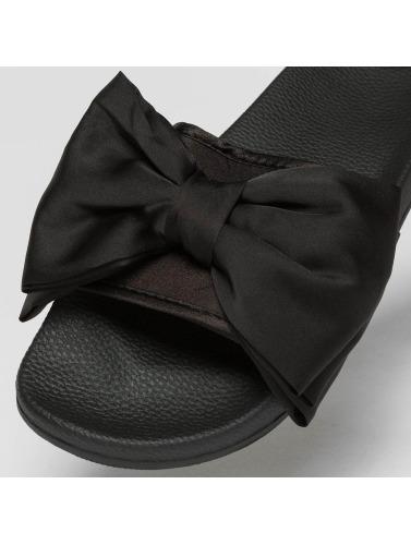 Slydes Damen Sandalen Peep in schwarz