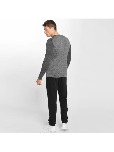 Smilodox Hombres Camiseta de manga larga Spotted in gris