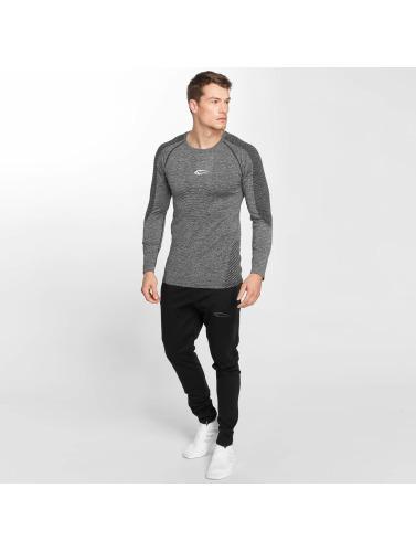 Smilodox Hombres Camiseta de manga larga Thunder Seamless in gris