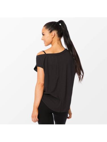 Smilodox Mujeres Camiseta Loose in negro