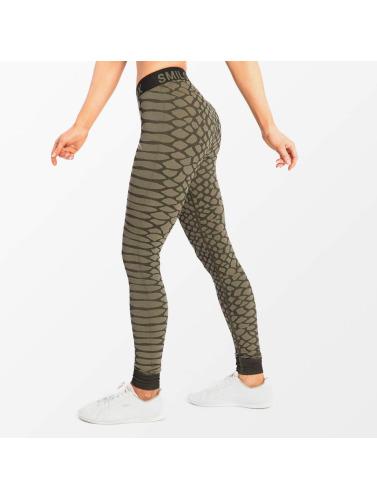 Smilodox Damen Legging Scale in grün