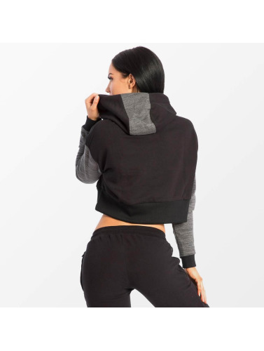 Smilodox Mujeres Sudadera Flawless Cropped in negro