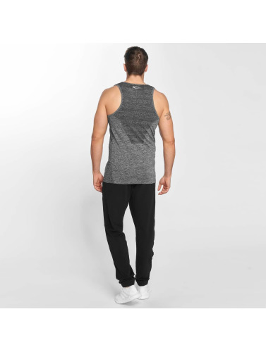 Smilodox Hombres Tank Tops Ultra Seamless in gris
