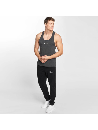 Smilodox Hombres Tank Tops Tough in gris