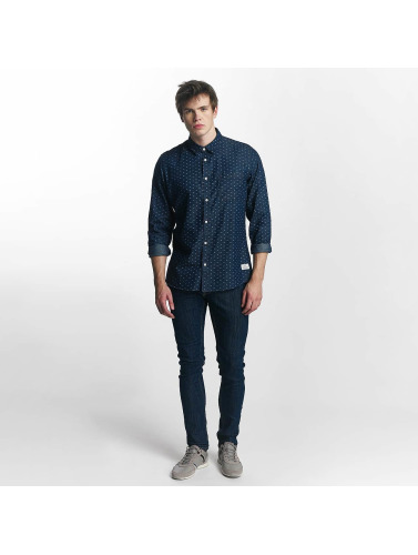Solid Hombres Camisa Magic in azul