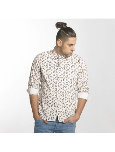 Solid Hombres Camisa Major in blanco