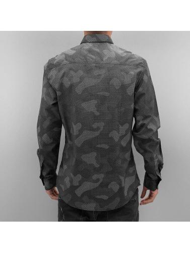 Solid Hombres Camisa Castlero in gris
