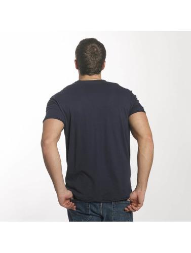 Solid Hombres Camiseta Mars in azul