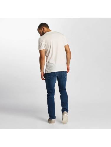 Solid Hombres Camiseta Jacot in blanco