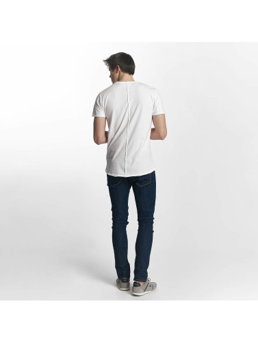 Solid Hombres Camiseta Laurits in blanco