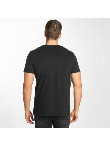 Solid Hombres Camiseta Niles in negro