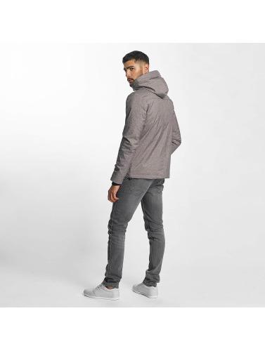 Solid Hombres Chaqueta de invierno Jermin in gris