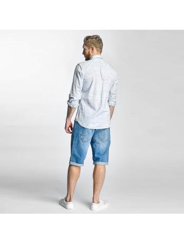 Solid Herren Hemd Shirt Haddon in blau