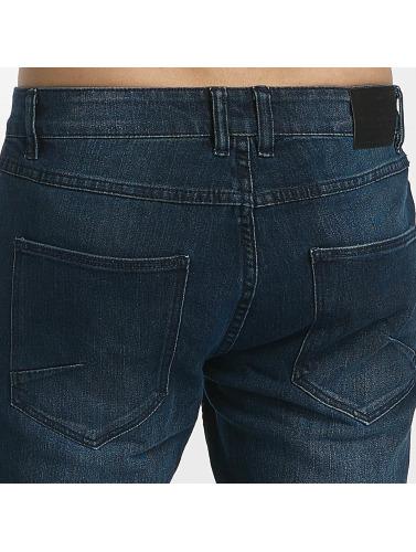 Solid Hombres Jeans ajustado Joy Strech in azul