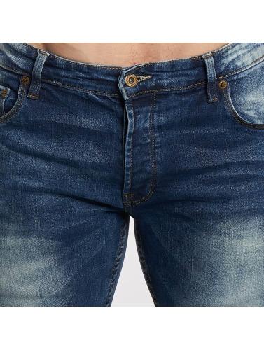 Solid Hombres Jeans ajustado Joy Stretch in azul
