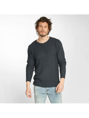Solid Hombres Jersey Navid Knit in azul