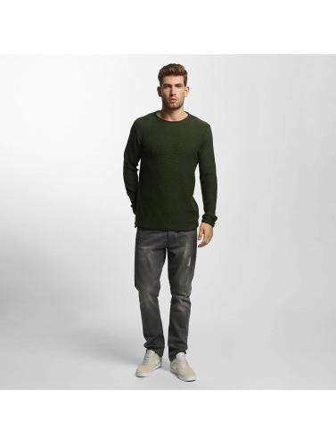 Solid Hombres Jersey Jarah Knit in verde