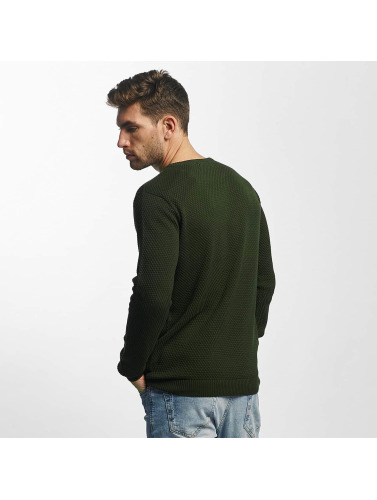 Solid Hombres Jersey Gyden Knit in verde