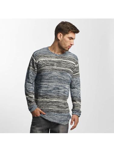 Solid Herren Pullover Kamal Knit in blau