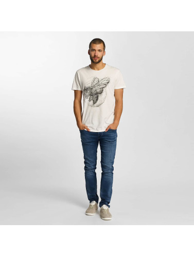 Solid Herren T-Shirt Jacot in weiß