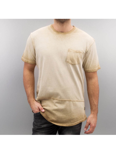 Southpole Hombres Camiseta Kamskjell I Beis klaring utløp butikk 7aEn3c