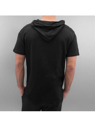 Southpole Hombres Camiseta Scallop in negro