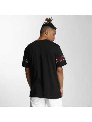 Southpole Hombres Camiseta Embo Technique Foil Print in negro