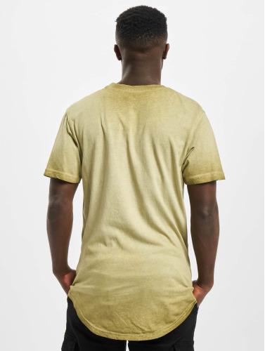 Southpole Hombres Camiseta Scallop in oliva