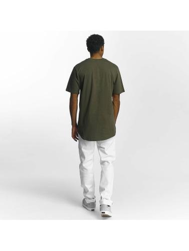 Southpole Hombres Camiseta Glidelås I Oliva kjøpe billig forsyning UJLhlzf5