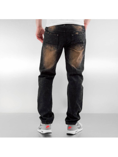 Southpole Hombres Jeans ajustado Ripped Slim in azul