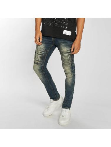 Southpole Hombres Jeans ajustado Menelaos in azul