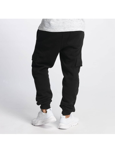 Southpole Herren Jogginghose Basic Fleece Cargo in schwarz