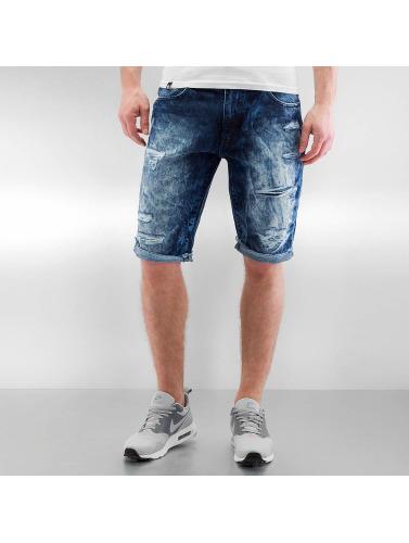Southpole Herren Shorts Ripped in blau