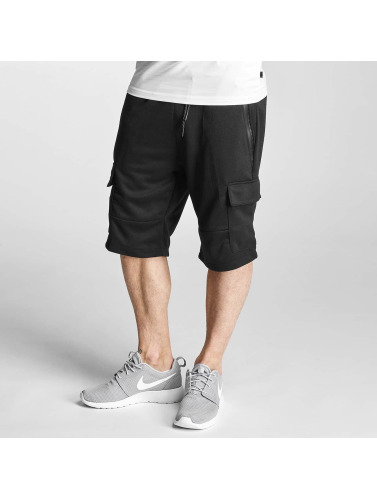 Southpole Herren Shorts Fleece in schwarz