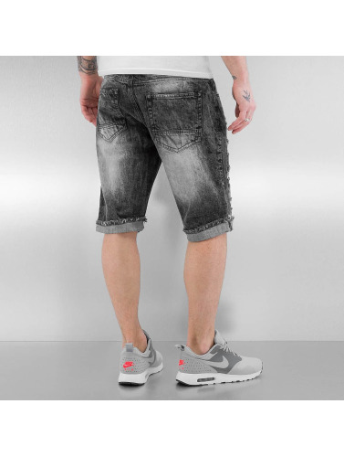 Southpole Herren Shorts Ripped in schwarz