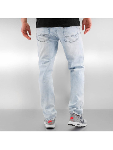 Southpole Herren Slim Fit Jeans Ripped Slim in blau