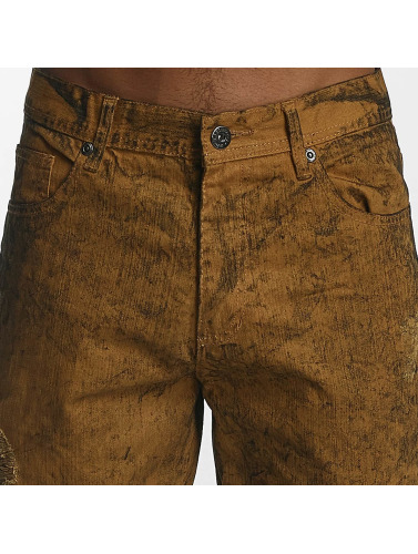 Southpole Herren Straight Fit Jeans Colored Acid in braun