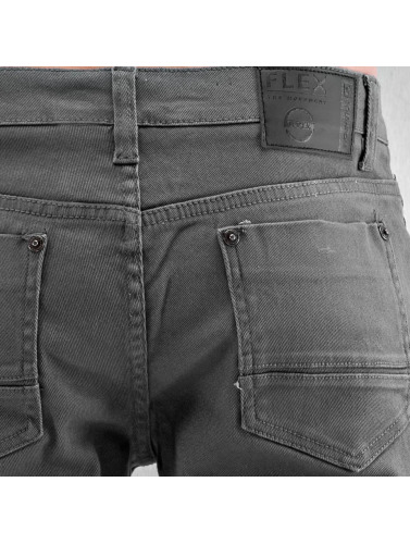 Southpole Herren Straight Fit Jeans Vernon in grau
