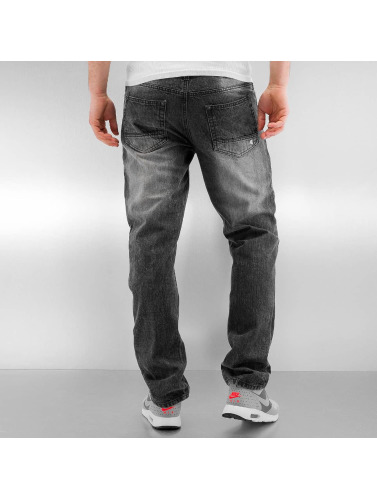 Southpole Herren Straight Fit Jeans Ripped Slim in schwarz
