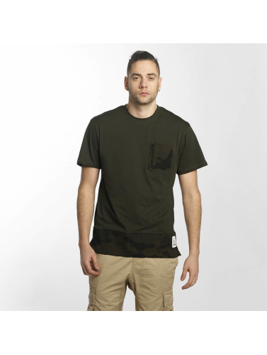 Southpole Herren T-Shirt Pocket in olive