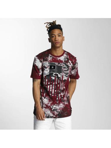 Southpole Herren T-Shirt Camo Print Fur Technique in rot