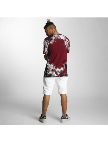 Southpole Herren T-Shirt Camo Print Fur Technique in rot