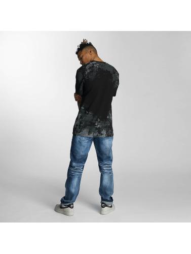 Southpole Herren T-Shirt Camo Print Fur Technique in schwarz